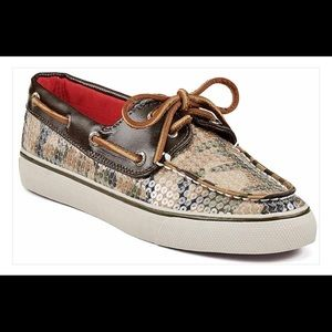 Sperry Camouflage Sequin Boat Shoes